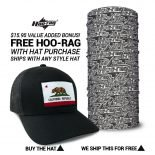 California State Flag Hat | by Hoo-rag, just 23.99