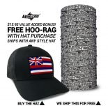Hawaii State Flag Hat | by Hoo-rag, just 23.99