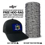 New York State Flag Hat | by Hoo-rag, just 23.99
