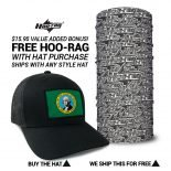 Washington State Flag Hat | by Hoo-rag, just 23.99