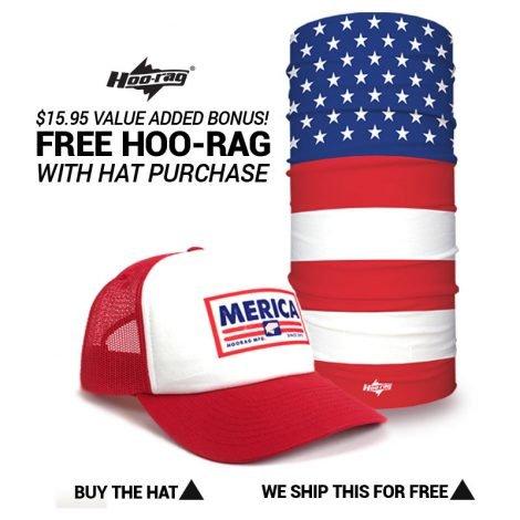 Merica Foamie Trucker Hat + FREE USA Hoo - Hoo-rag 2e6f1a62923