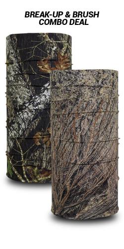 Mossy Oak Brush and Break Up bandanas by Hoo-rag