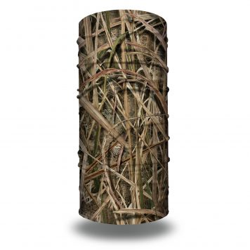 image of tubular bandana in mossy oak blades design