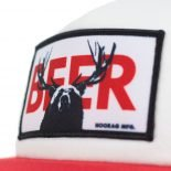 bear deer (beer) foam snapback trucker hat
