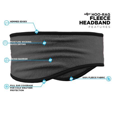 PHB05 Grey Black Headband Features