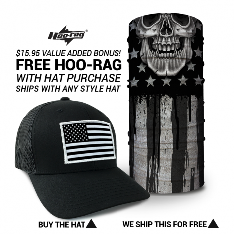 Black   White American Flag Hat  a3678231e58