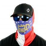 georgia flag face mask bandana