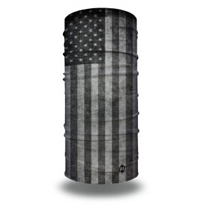 gray grey american flag face mask bandana