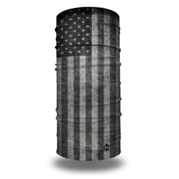 gray grey american flag face mask bandana