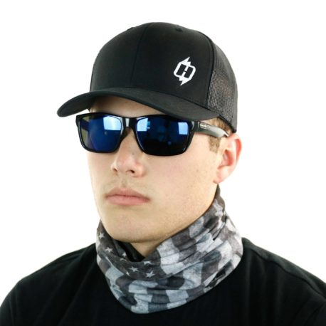 gray grey american flag neck gaiter bandana