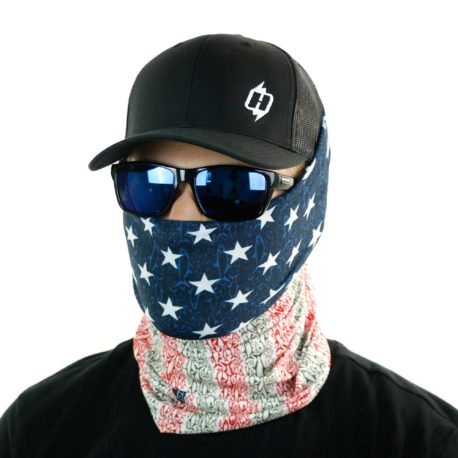 american flag fish grand slam face mask bandana