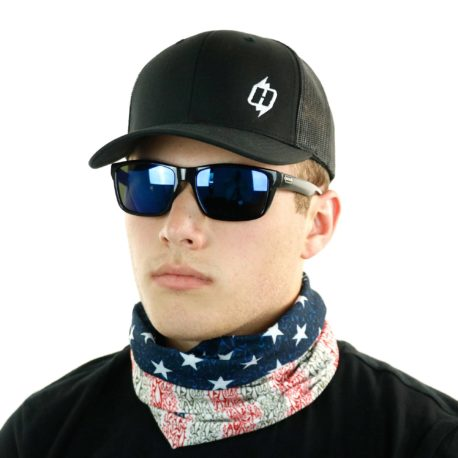 american flag fish grand slam neck gaiter bandana