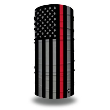 thin red line american flag face mask bandana