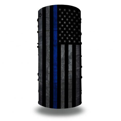 grunge thin blue line american flag face mask bandana