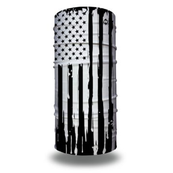 black white american flag face mask bandana