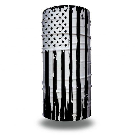 black white american flag face mask bandana