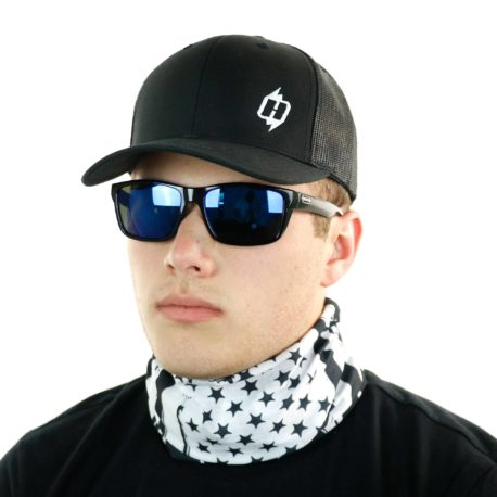 black white american flag neck gaiter bandana