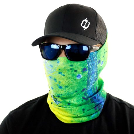 HFS09 dolphin mahi fishing face mask bandana side