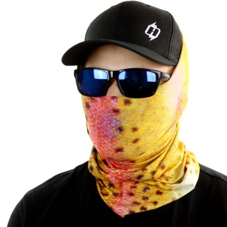 HFS10 rainbow trout fishing face mask bandana side