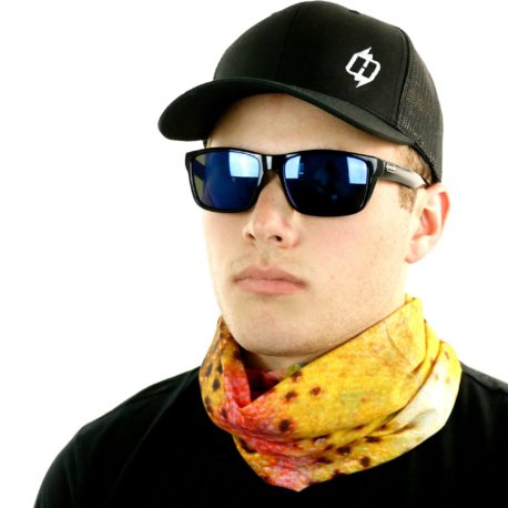 HFS10 rainbow trout fishing neck gaiter bandana