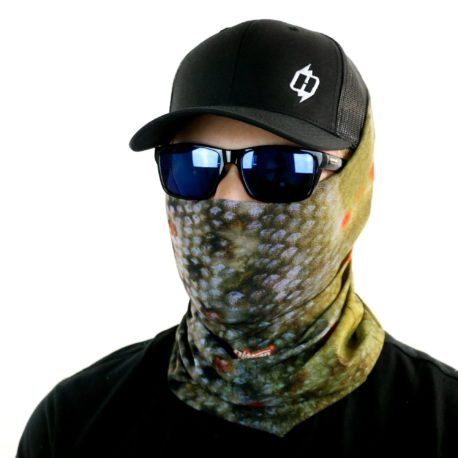 brown trout fishing face mask bandana