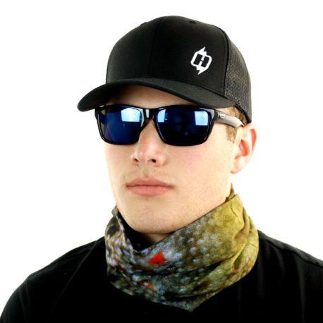 brown trout fishing neck gaiter bandana