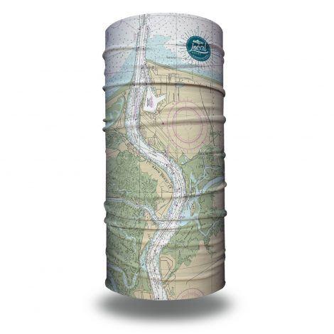 jacksonville nautical map fishing face mask bandana