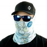 key west nautical map fishing face mask bandana