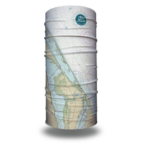 mosquito lagoon nautical map fishing face mask bandana