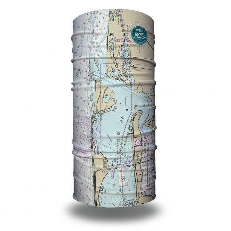 saint lucie inlet nautical map fishing face mask bandana