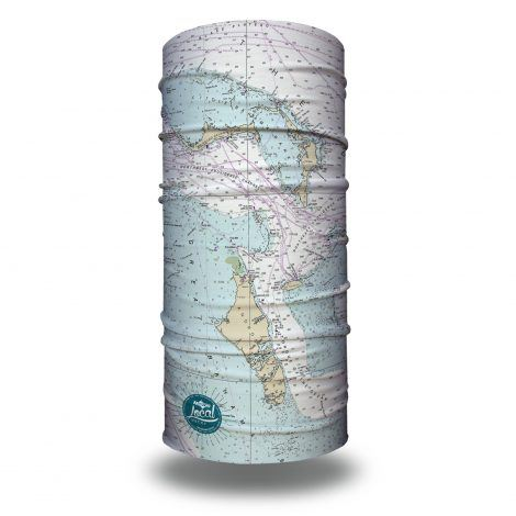 bahamas nautical map fishing face mask bandana