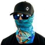 blue marlin fishing face mask bandana