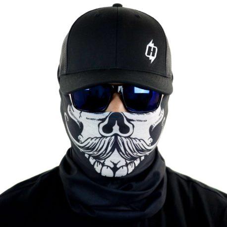 HRB17 gun cowboy western face mask bandana front