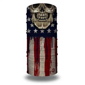 skull american flag motorcycle face mask bandana