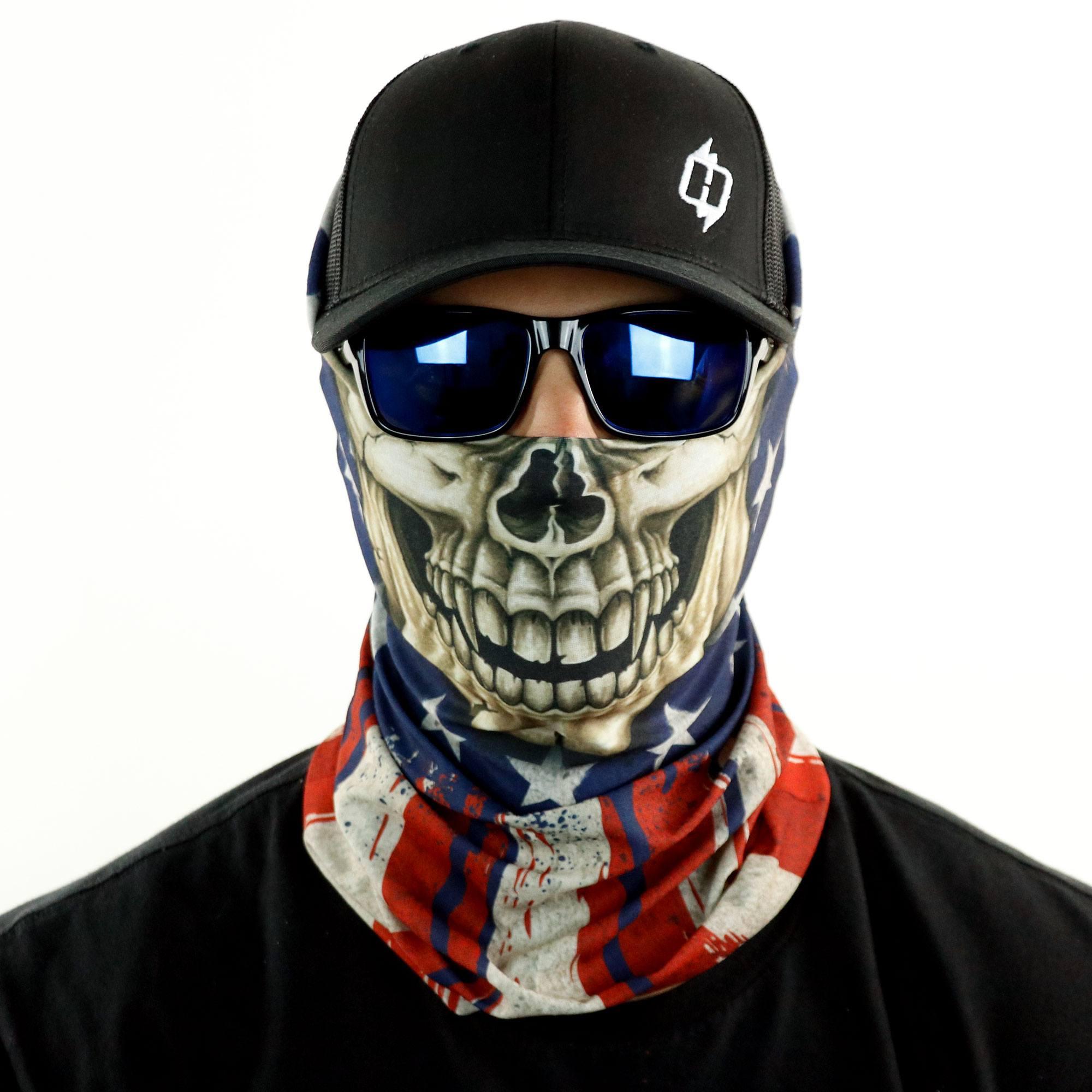 No//Brand Motorcycle Face Bandana for Women Men Face Scarf