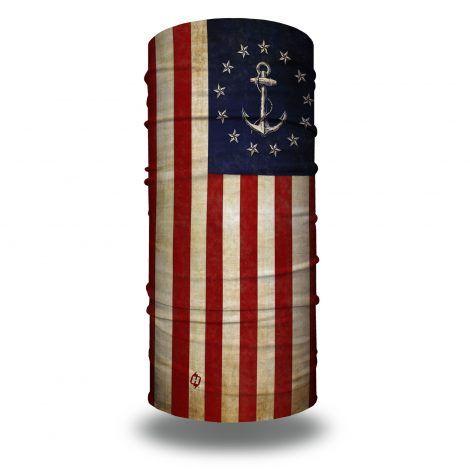 naval anchor american flag fishing face mask bandana