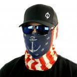 naval anchor american flag fishing face mask bandana