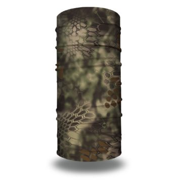 image of a tubular bandana in the kryptek mandrake design