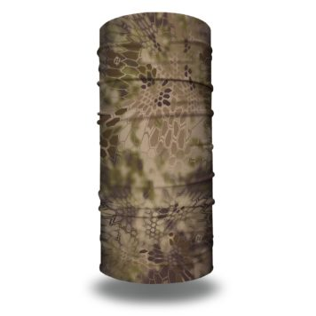 image of a tubular bandana in the kryptek highlander design