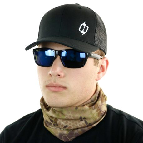 HRH30 kryptek highlander camo hunting face mask bandana side
