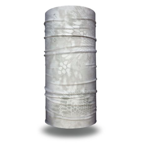 image of a tubular bandana in kryptek wraith design