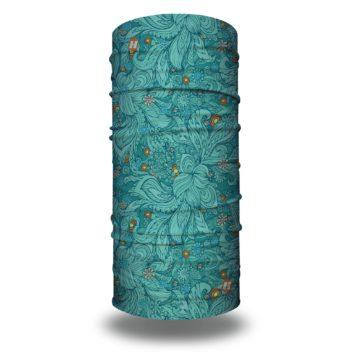 aquamarine blue floral bandana