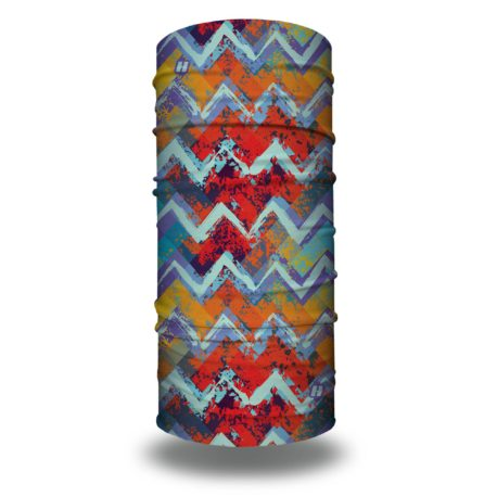HRL14 bright chevron tropical bandana