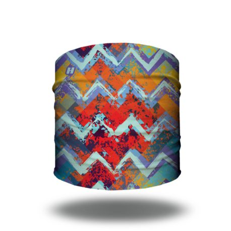 bright chevron tropical headband