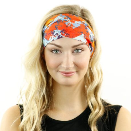 bright chevron tropical headband bandana