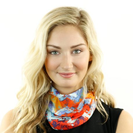 HRL14 bright chevron tropical neck gaiter bandana