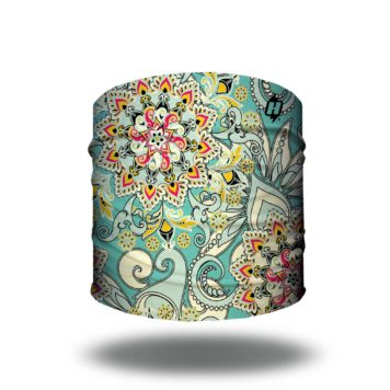 pastel floral bandana headband