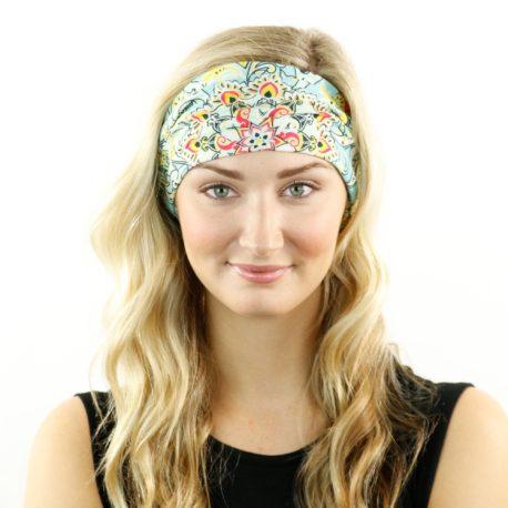 HRL18 pastel floral headband bandana