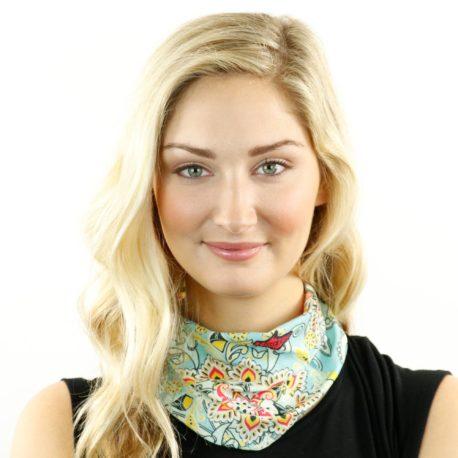 pastel floral neck gaiter bandana