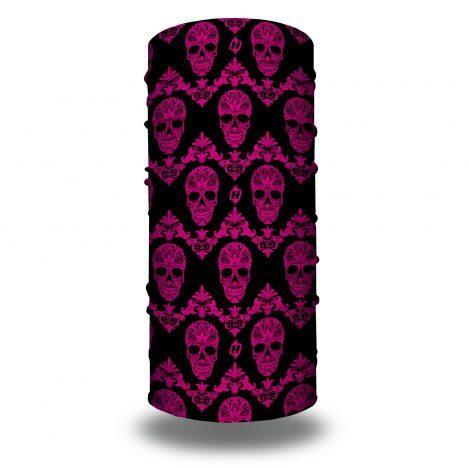 pink skulls bandana
